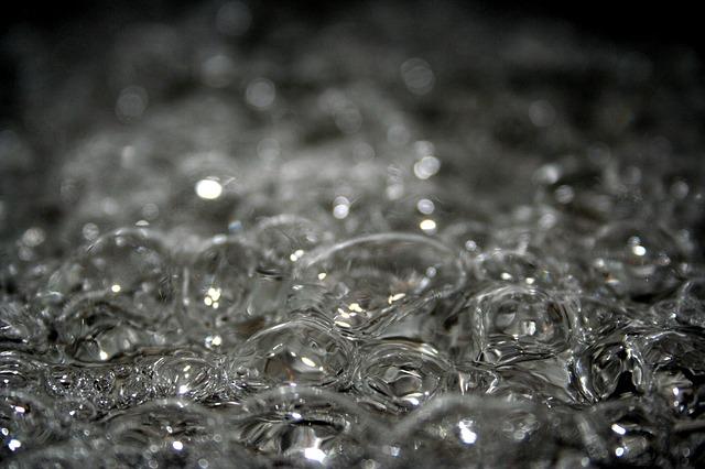 Wasser kochend Blasen