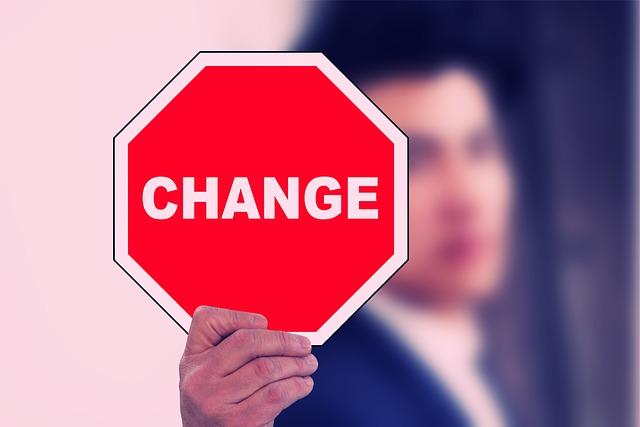 Stopschild Mann Hand Wechsel Change