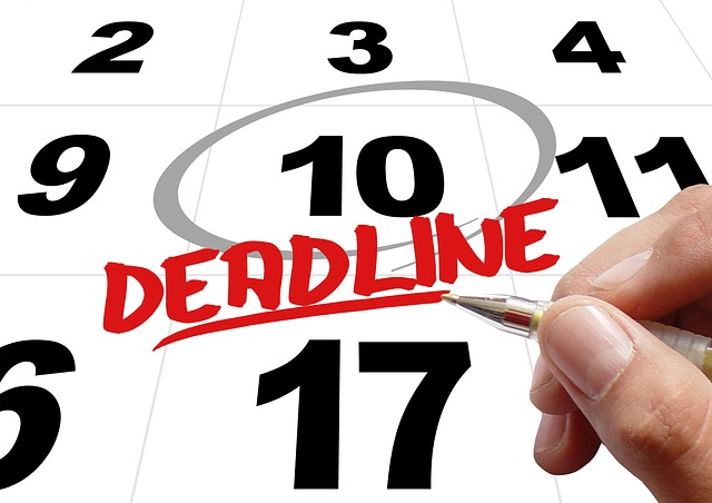 Kalender Deadline